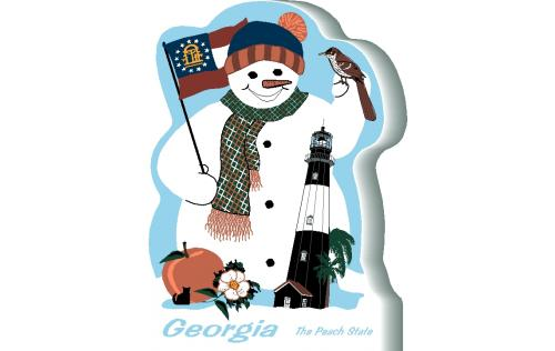 Georgia State Snowman handcrafted and made in the USA.