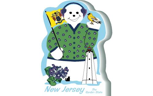 New Jersey State Snowman handcrafted and made in the USA.