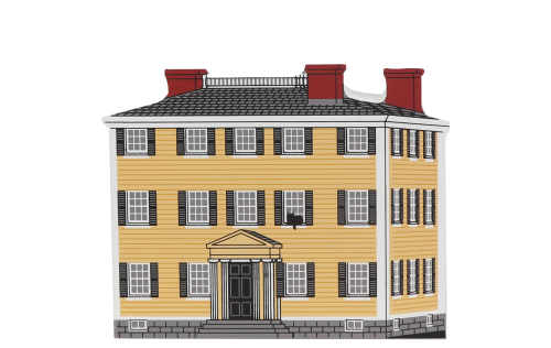 """Vintage Hawke's House from Historic Salem Series handcrafted from 3/4"""" thick wood by The Cat's Meow Village in the USA"""