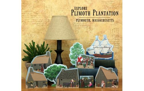 Plimoth Plantation collection handcrafted of wood in the USA by The Cat's Meow Village