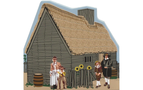 Cat's Meow replica of Francis Cooke's Home, Plimoth Plantation, Plymouth, Massachusetts