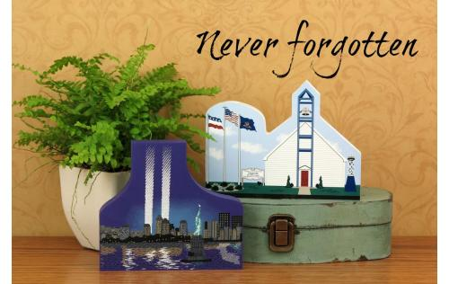 Cat's Meow handcrafted wooden keepsakes honoring those who lost their lives in the attack on America September 11, 2001