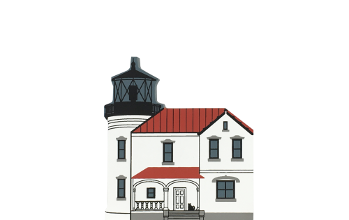 """Vintage Admiralty Head Lighthouse from Lighthouse Series handcrafted from 3/4"""" thick wood by The Cat's Meow Village in the USA"""