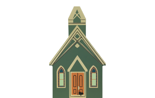 "Vintage All Saints Chapel from Series IX handcrafted from 3/4"" thick wood by The Cat's Meow Village in the USA"