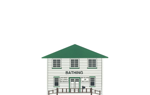 """Vintage Bath House from Chippewa Lake Amusement Park handcrafted from 3/4"""" thick wood by The Cat's Meow Village in the USA"""