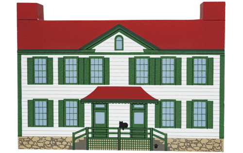"Vintage Becky Thatcher House from Mark Twain's Hannibal Series handcrafted from 3/4"" thick wood by The Cat's Meow Village in the USA"
