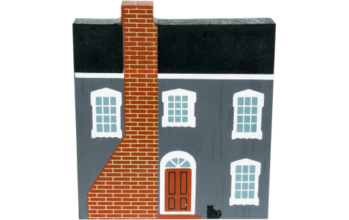 """Vintage Bennington Hull House from Series IV handcrafted from 3/4"""" thick wood by The Cat's Meow Village in the USA"""