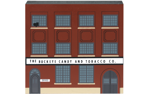 """Vintage Buckeye Candy & Tobacco Co. from Tradesman Series handcrafted from 3/4"""" thick wood by The Cat's Meow Village in the USA"""