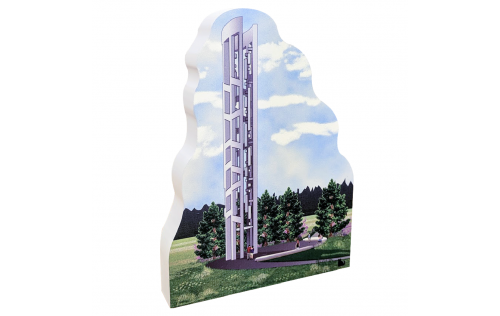 "This ¾"" thick wooden replica is handcrafted in the U.S.A. to honor these 9/11 heroes at the Tower of Voices, Shanksville, PA."