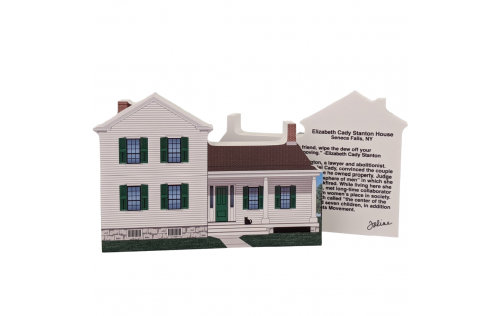 "Front & Back of Elizabeth Cady Stanton House, Women's Rights NHP, Seneca, New York. Handcrafted in the USA 3/4"" thick wood by Cat's Meow Village."