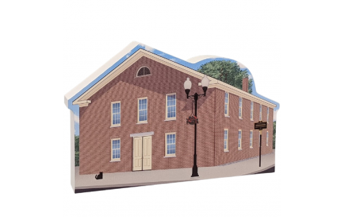 """Wesleyan Chapel, Women's Rights NHP, Seneca Falls, New York. Handcrafted in the USA 3/4"""" thick wood by Cat's Meow Village."""