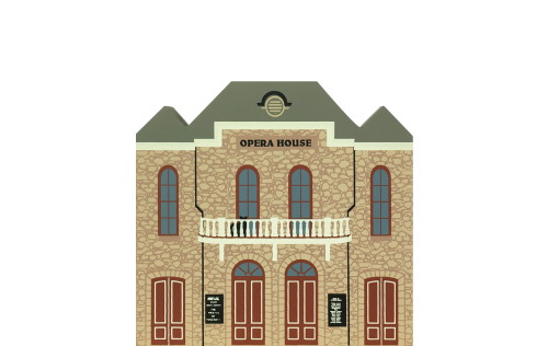 "Vintage Central City Opera House from Series IX handcrafted from 3/4"" thick wood by The Cat's Meow Village in the USA"