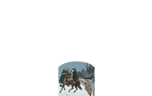 """Vintage Charge at Trenton from Series XVII, Revolutionary War Series Accessory handcrafted from 3/4"""" thick wood by The Cat's Meow Village in the USA"""