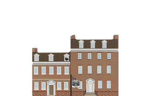 """Vintage Gadsby's Tavern from Mid-Atlantic Tavern Series handcrafted from 3/4"""" thick wood by The Cat's Meow Village in the USA"""