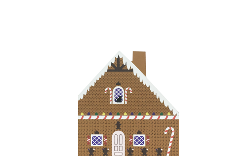 "Vintage Gingerbread House from Fairy Tale Series handcrafted from 3/4"" thick wood by The Cat's Meow Village in the USA"