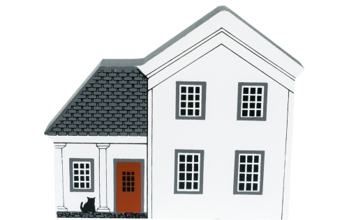 "Vintage Grimm's Farmhouse from Fall Series handcrafted from 3/4"" thick wood by The Cat's Meow Village in the USA"