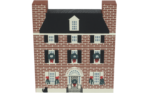 """Vintage Hill-Physick-Keith House, from Philadelphia Christmas Series handcrafted from 3/4"""" thick wood by The Cat's Meow Village in the USA"""
