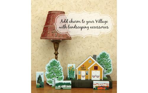 Add Cat's Meow landscaping accessories to your Village collection to bring out it's purrsonality.