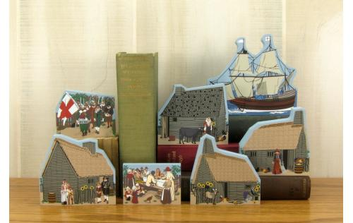Cat's Meow Village Plimoth Plantation Collection handcrafted of wood in the USA