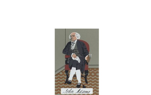 "Vintage John Adams from Presidential Portraits Series handcrafted from 3/4"" thick wood by The Cat's Meow Village in the USA"