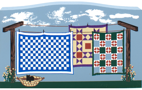 Clothesline Of Quilts, quilts, Amish country Ohio, Amish
