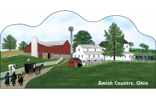 Cat's Meow Amish Country Scene Ohio, Amish Life Collection