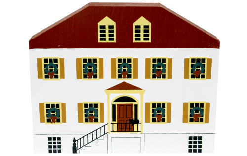 """Vintage Liberty Inn from Savannah Christmas Series handcrafted from 3/4"""" thick wood by The Cat's Meow Village in the USA"""