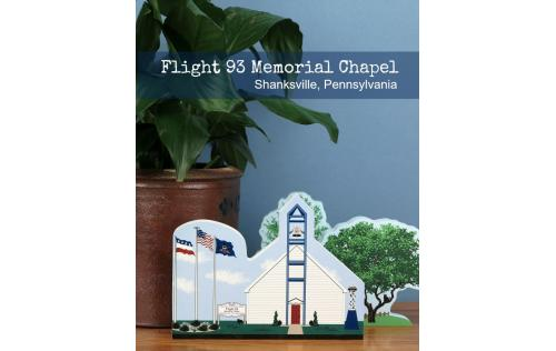 Cat's Meow wooden handcrafted replica of the Flight 93 Memorial Chapel in Shanksville, PA