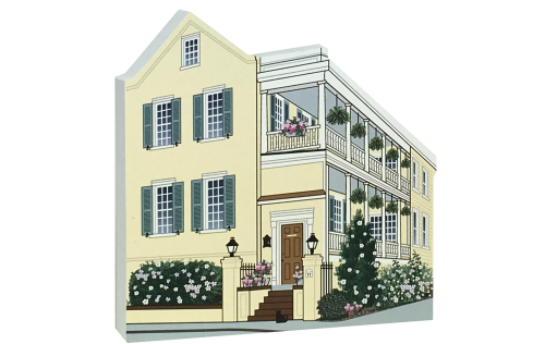 Wooden replica of the Mary Scott House in Charleston, SC just waiting to be added to your home decor. Remember your visit to Charleston, SC with our handcrafted in the USA wooden keepsake.