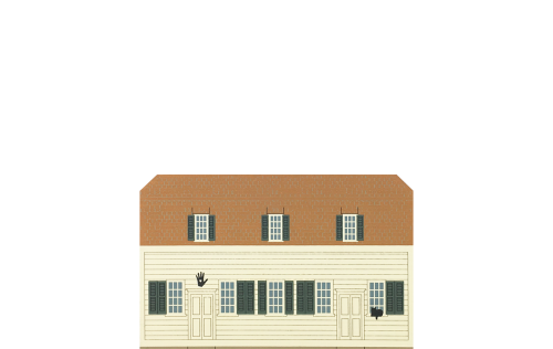 """Vintage Meetinghouse from Shaker Village Series handcrafted from 3/4"""" thick wood by The Cat's Meow Village in the USA"""