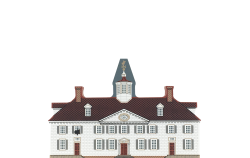 "Vintage Mount Vernon from Virginia Dynasty Series handcrafted from 3/4"" thick wood by The Cat's Meow Village in the USA"