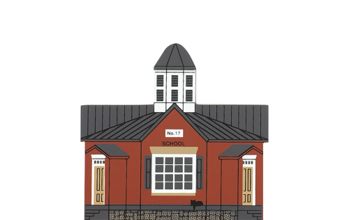 "Vintage Octagonal School from Series VII handcrafted from 3/4"" thick wood by the Cat's Meow Village in the USA"