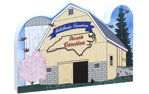 "Cat's Meow North Carolina State Barn handcrafted in the USA from 3/4"" thick wood by The Cat's Meow Village."