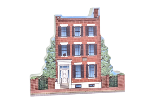 "Beautifully detailed replica of Field House Museum, St. Louis, MO.  Handcrafted in the USA 3/4"" thick wood by Cat's Meow Village."
