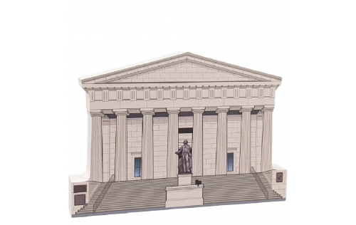 """Federal Hall National Memorial,Manhattan, New York. Handcrafted in the USA 3/4"""" thick wood by Cat's Meow Village."""