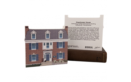 "Front & Back of Eisenhower House, Nat'l HS, Gettysburg, Pennsylvania. Handcrafted in the USA 3/4"" thick wood by Cat's Meow Village."