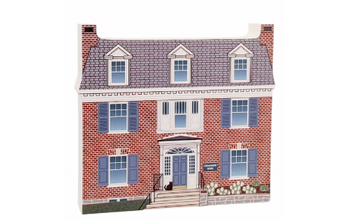"""Eisenhower House National Historic Site, Gettysburg, Pennsylvania. Handcrafted in the USA 3/4"""" thick wood by Cat's Meow Village."""