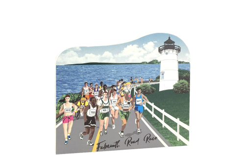 "Grab this souvenir of the Falmouth Road Race held on Cape Cod every year since 1973. Handcrafted of 3/4"" thick wood in our Wooster, Ohio workshop."