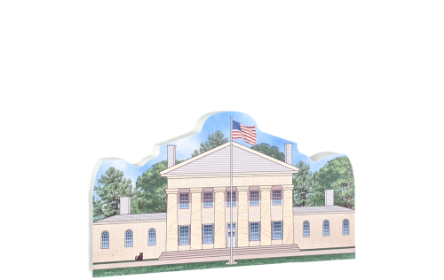 "Lovely replica of Arlington House, Robert E. Lee Memorial, Arlington, VA. Handcrafted in the USA 3/4"" thick wood by Cat's Meow Village."