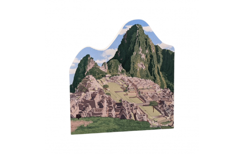 "Remember your trip to Machu Picchu, Peru with this 3/4"" thick wooden souvenir to sit on your desk, shelf or mantle. Handcrafted by The Cat's Meow Village in the USA."