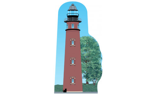 """Ponce De Leon Inlet Lighthouse, Florida. Handcrafted in the USA 3/4"""" thick wood by Cat's Meow Village."""