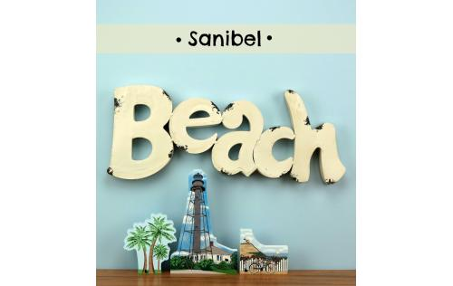 Bring the beach home with a Cat's Meow handcrafted wooden souvenir of the Sanibel Lighthouse