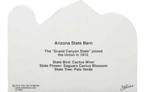 Arizona State Barn, representing the unique facts about the state of Arizona. Grand Canyon state