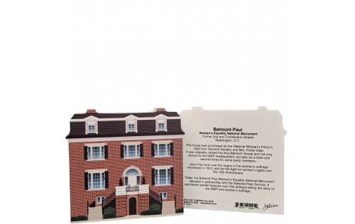 "Lovely detailed replica of Women's Rights NHP, Belmont-Paul House, Washington, DC. Handcrafted in the USA 3/4"" thick wood by Cat's Meow Village."
