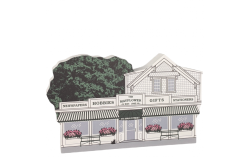 The Mayflower Shop, Chatham, Cape Code, Massachusetts. Handcrafted in the USA by Cat's Meow Village.