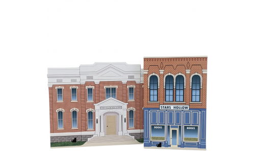 Stars Hollow Books and High School.  Handcrafted in the USA by Cat's Meow Village.