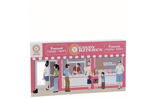 """Candy Kitchen, Ocean City, Maryland. Handcrafted in the USA 3/4"""" thick wood by Cat's Meow Village."""