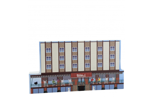 """Phillips Beach Plaza Hotel, Ocean City, Maryland. Handcrafted in the USA 3/4"""" thick wood by Cat's Meow Village."""
