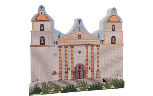 "Mission Santa Barbara, CA. Handcrafted in the USA 3/4"" thick wood by Cat's Meow Village."