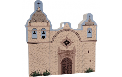 """Mission Carmel, Carmel by the Sea, California. Handcrafted in the USA 3/4"""" thick wood by Cat's Meow Village."""